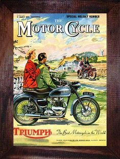 Items similar to Triumph 1955 mounted print, Classic motorcycle art on Etsy Bsa Motorcycle, Motorcycle Posters, Classic Motorcycle, Vintage Bikes, Vintage Motorcycles, Vintage Advertisements, Vintage Ads, Vintage Magazines, Vintage Posters