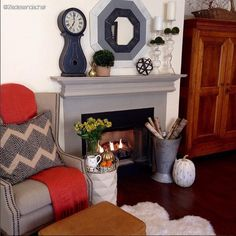 Farmhouse Mantle Clock From The Home Decor Discovery Community At www.DecoandBloom.com