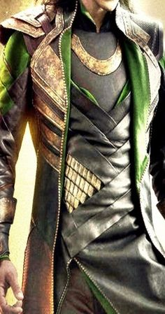Loki costume detail.