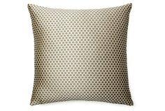 Les Pois 20x20 Pillow, Silver on OneKingsLane.com