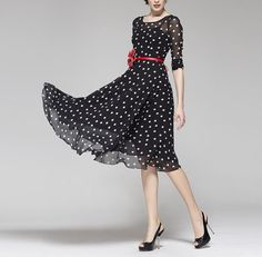 Spring Summer Chiffon Long Dress Lady Women Clothing by handok, $79.00 Check out these beautiful clothes from China. Classic. Guess what? They custom fit for Swedish girls like me--yay!