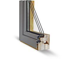 Okno WINSTAR PREMIUM 108 | Excelentní systém s prvky špičkového designu, praktičnosti a bezkonkurenční životnosti. Jedná se o speciálně upravené dřevěné okno, které má rozšířený rám na 108 mm. Díky této úpravě je z interiéru pohledová část rámu zarovnána s křídlem. Z venkovní strany je okno opláštěné hliníkovým krytím v podobném designu, jako je interiér. Další nespornou výhodou je design okna, skryté kování (nejsou vidět panty) již v základní výbavě a exkluzivní barevné kombinace.