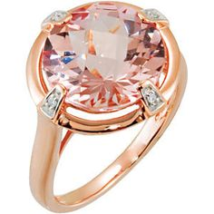 14kt rose gold Morganite and Diamond Ring. To find a jeweler near you, visit http://www.stuller.com/locateajeweler/