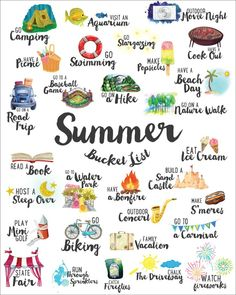 summer fun Summer Bucket List Make the mos - summer Summer Bucket List For Teens, Summer Fun List, Free Summer, Happy Summer, Spring Bucket Lists, This Summer, Fun Bucket List Ideas, Summer Ideas Kids, Fun Ideas