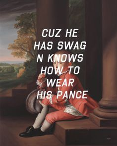 Shawn Huckins. Because He Has Swag And Knows How To Wear His Pants: Daniel Verplanck, 2012. Acrylic on canvas, 40 x 32 in. Courtesy of the artist.