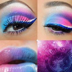 pink,blue,purple makeup