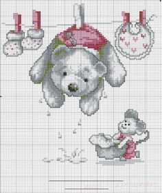 Schemi a punto croce gratuiti per tutti: Raccolta di schemi a punto croce per bambini a tema orsetti