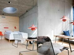 Home - Ideas to steal Norway, Concrete, Conference Room, Dining Table, Interiors, Interior Design, Inspiration, Furniture, Food