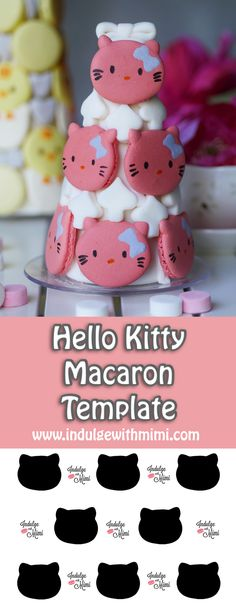 Hello Kitty Macaron Template