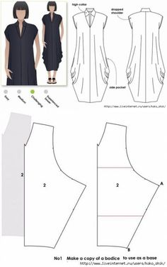 Moldes Vestidos #costura #patrones #moldes