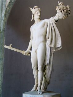 #Perseus #triumphant is a marble sculpture by #Antonio #Canova produced between 1797 and 1801. Height-measure 235cm and is exposed to the Vatican museums in #Rome. Wikipedia