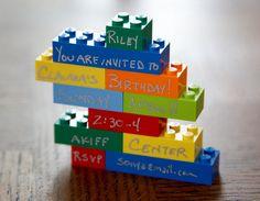 Lego party invites