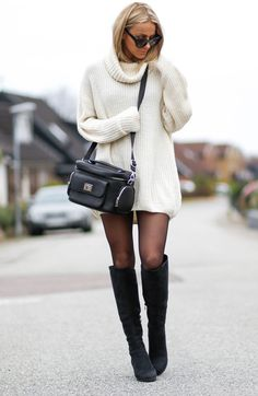Cozy sweater boots