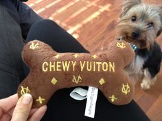 Chewy Vuiton. Gotta get one of these for my dogs.