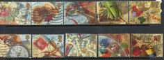 GB 1992 greetings SG1592-1601 fine used set stamps £5.99