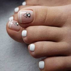 nail art will attract much attention to your feet. Use these wonderful nail . - Toe nail art will attract much attention to your feet. Use these wonderful nail .Toe nail art will attract much attention to your feet. Use these wonderful nail . French Pedicure, Pedicure Nail Art, Nail Art Toes, French Nails, Acrylic Nails, Pedicure Designs, Toe Nail Designs, Pedicure Ideas, Hair And Nails