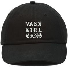 56f0871696b Vans Gang Girl Court Side Baseball Hat ( 28) ❤ liked on Polyvore featuring  accessories