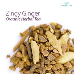 Say hello to Zingy Ginger, a new organic herbal tea from Steeped Tea.  Spiced up with cinnamon and cloves - yummm