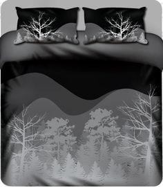 Tree Silhouette - Forest - Duvet Set – LCV Designs & Decor