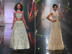 Love these elegant outfits by Abu Jani and Sandeep Khosla that are perfect for a cocktail or sangeet night.