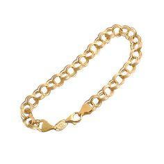 Triple Link Charm Bracelet in 14K Gold by EncoreJewelryandGems
