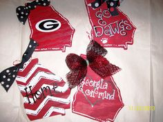 Georgia Bulldogs Christmas Wood Ornaments by craftigirlcreations, $10.00