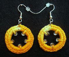 Sale crocheted beaded earrings by CreationsbyAAJ on Etsy, $7.00