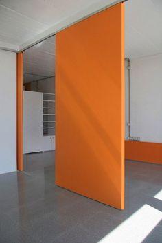 Sliding doors = flexible space.