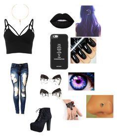 """""""what lexi wears"""" by emogirl715 ❤ liked on Polyvore featuring Lime Crime, Vanessa Mooney, Speed Limit 98 and Trend Cool"""