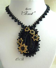 Pendant by unidentified Russian or Ukrainian beadworker.