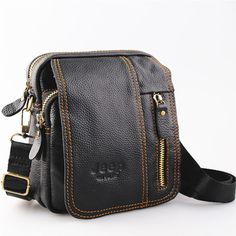 100% genuine leather men bag fashion designer crossbody bags design men bag cowhide leather small messenger bag for man