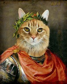 ac991cf0805f Julius Caesar - Pet Portrait - Custom Renaissance Pet Dog/Cat Portraits - Digital  personalized portrait painting using your Pet's Photo