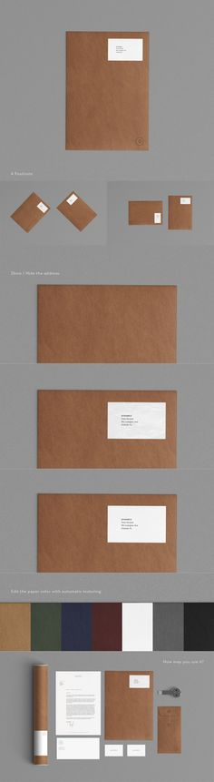Add-on especially for the stationery mock up 5 in the same collection. The envelope is available in 4 positions and it's totally movable. You can use it without or with the mock up 5. Change the design and the background texture with smart objects.