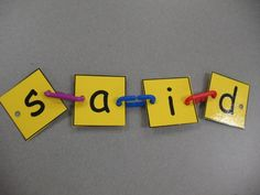 A great center idea for spelling sight words, CVC, and CVCe words. All you need is a set of links! Students could make the letter cards themself, giving them ownership over the activity!