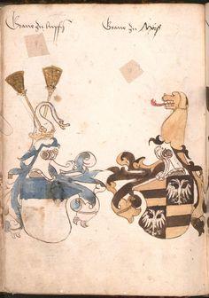 Wernigeroder (Schaffhausensches) Wappenbuch Süddeutschland, 4. Viertel 15. Jh. Cod.icon. 308 n  Folio 75v