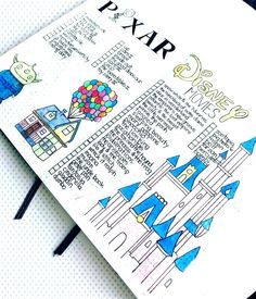 37 amazing disney inspired bullet journal spreads that will inspire your inner creative and inner child. Get disney inspired and creative with these spreads Walt Disney Animation, Disney Animation Studios, Bullet Journal Disney, Bullet Journal Spreads, Disney Princesses, Disney Characters, Disney Movies To Watch, Dog Pen, Journal Layout