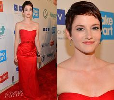Chyler Leigh in Kevan Hall | The Thirst Project 3rd Annual Gala