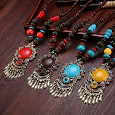 Women's Exquisite National Wind Silver Tassel Pendant Necklace. Natura – i'wood store