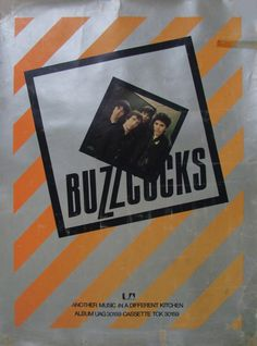 Buzzcocks - Another Music In A Different Kitchen Poster, approx 51x69cm. By Malcolm Garrett.