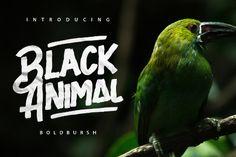 Black Animal Typeface Free Demo