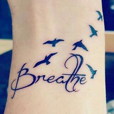 What does just breathe tattoo mean? We have just breathe tattoo ideas, designs, symbolism and we explain the meaning behind the tattoo. Dream Tattoos, Love Tattoos, Unique Tattoos, New Tattoos, Body Art Tattoos, Small Tattoos, Tatoos, Moana Tattoos, Cross Tattoos