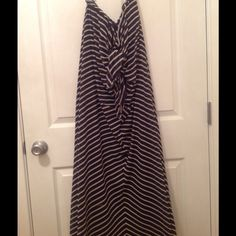 Vintage Sun Dress. Two piece beautiful dress. Navy and white with scarf. Purchased in New York. Dresses Strapless