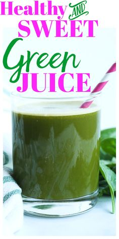 This sweet green juice recipe is healthy and perfect for beginners! It's also great for getting kids to drink green juice! This sweet green juice recipe is healthy and perfect for beginners! It's also great for getting kids to drink green juice! Healthy Juice Recipes, Juicer Recipes, Healthy Juices, Healthy Drinks, Smoothie Recipes, Detox Juices, Nutribullet Juice Recipes, Cleanse Recipes, Vegan Smoothies