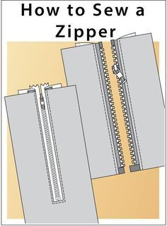 6 different methods to install a zipper. Step-by-step instructions of sewing zippers to your garment. How to insert centred zipper. Sewing Hacks, Sewing Crafts, Sewing Projects, Sewing Tips, Learn To Sew, How To Make, Love Sewing, Sewing Techniques, Step By Step Instructions
