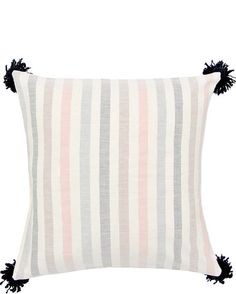 """Washed Stripe Pillow, 20"""""""