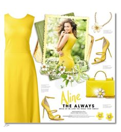 """""""Spring Yellow"""" by jgee67 ❤ liked on Polyvore featuring Lands' End, Dolce&Gabbana, Kurt Geiger and Betsey Johnson"""