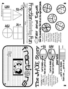 This fraction flippy book provides a basic introduction to fractions as part of a whole.  It gives students the opportunity to identify equal parts...
