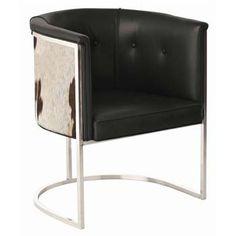 Amazon.com: Arteriors Calvin Top Grain/Hide/Polished Nickel Chair: Home & Kitchen