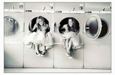 Or some laundromat mischief. | 37 Impossibly Fun Best Friend Photography Ideas