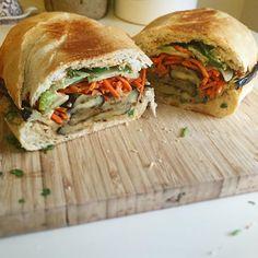 Meatless Monday: Eggplant Banh Mi #vegetarian #meatlessmonday